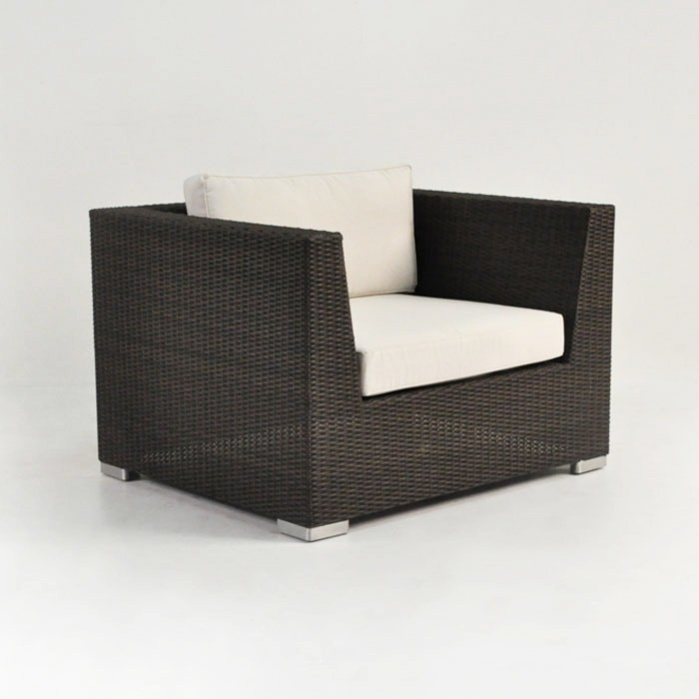 Paulo Outdoor Wicker Club Chair (Java) 0