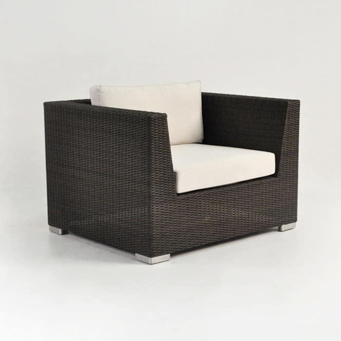 Paulo Wicker Outdoor Lounge Chair Java, How To Clean White Wicker Outdoor Furniture