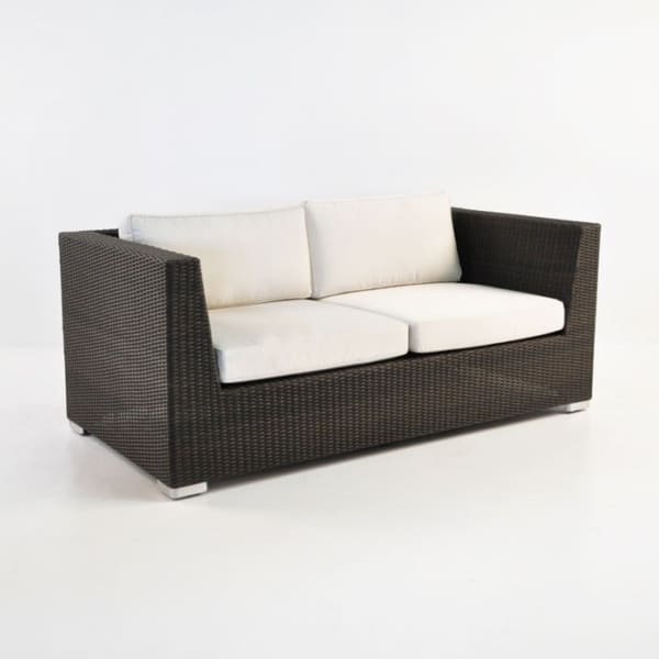 Paulo Outdoor Wicker Loveseat (Java)-0