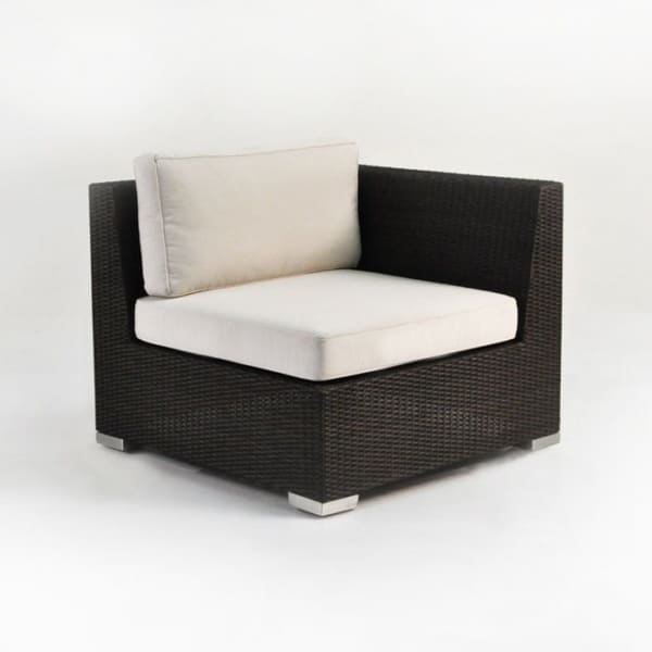 Paulo Outdoor Wicker Sectional Left (Java)-0