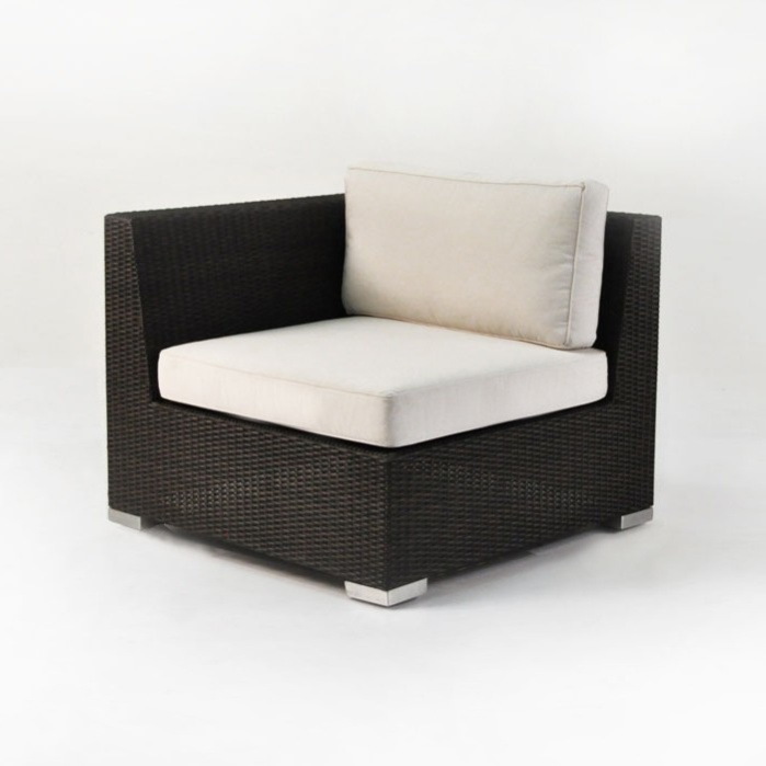 Paulo Outdoor Wicker Sectional Right (Java)-0