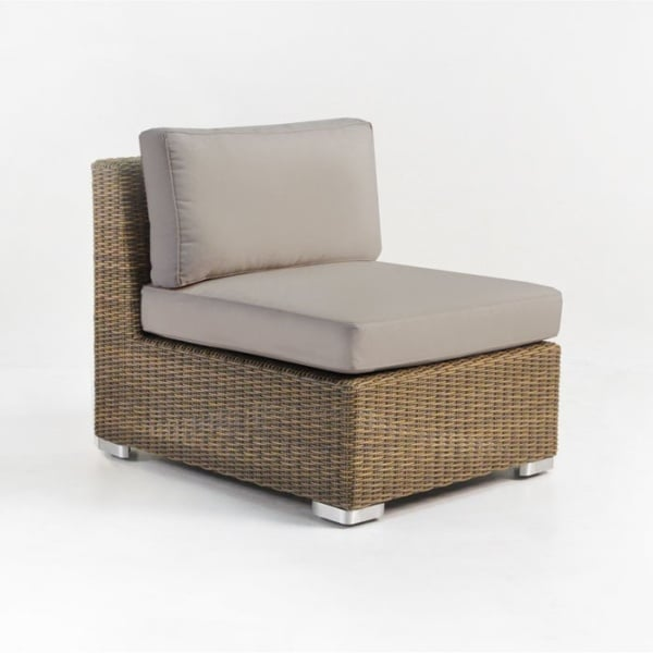 Paulo Outdoor Wicker Sectional Center (Sand)-0