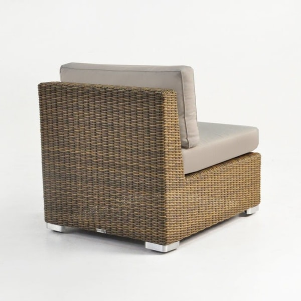 wicker sectional center chair with cushions