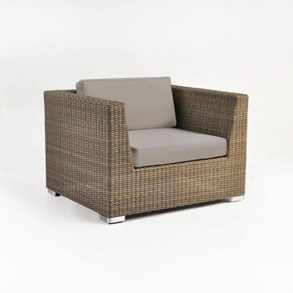 Paulo Outdoor Wicker Club Chair (Sand)-0
