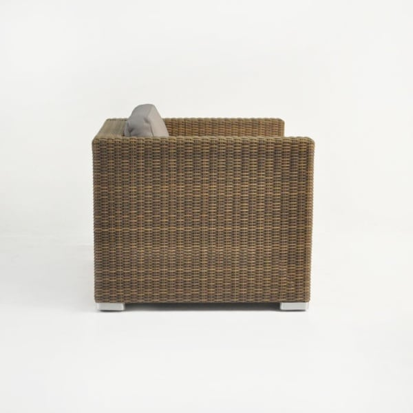 outdoor wicker club chair with cushion