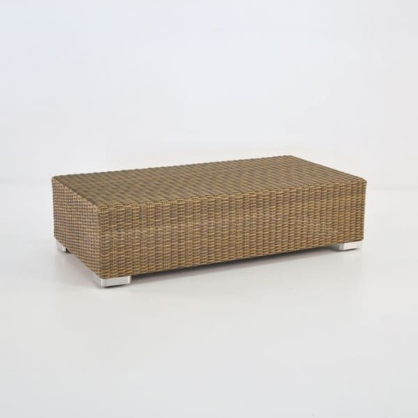 Paulo Rectangle Outdoor Wicker Coffee Table (Sand)-0