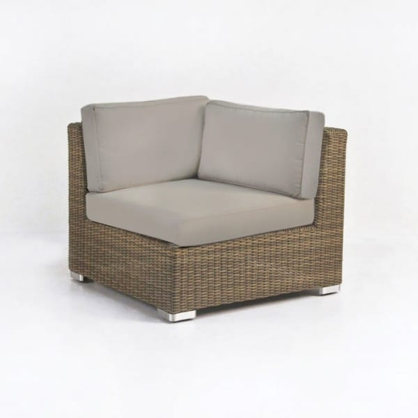 Paulo Outdoor Wicker Sectional Corner (Sand)-0