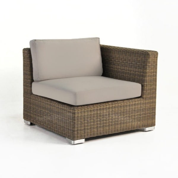 Paulo Outdoor Wicker Sectional Left (Sand)-0