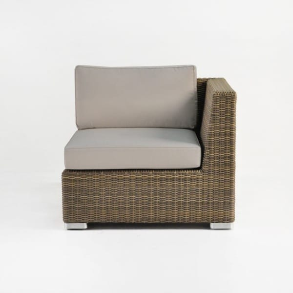 outdoor wicker sectional end unit