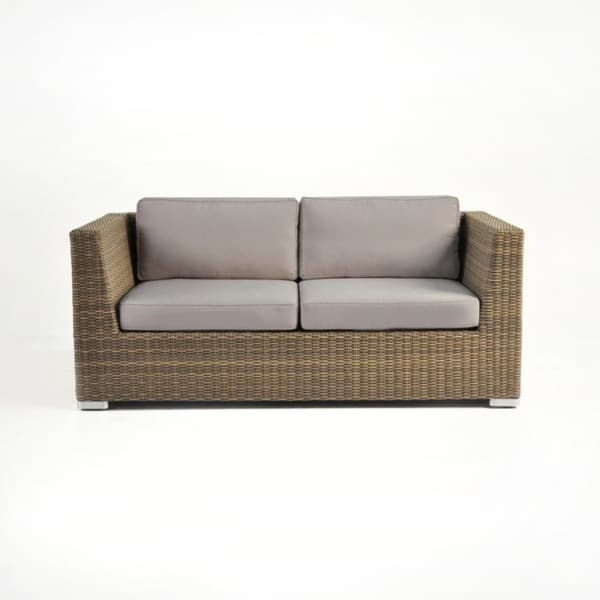 contemporary wicker loveseat