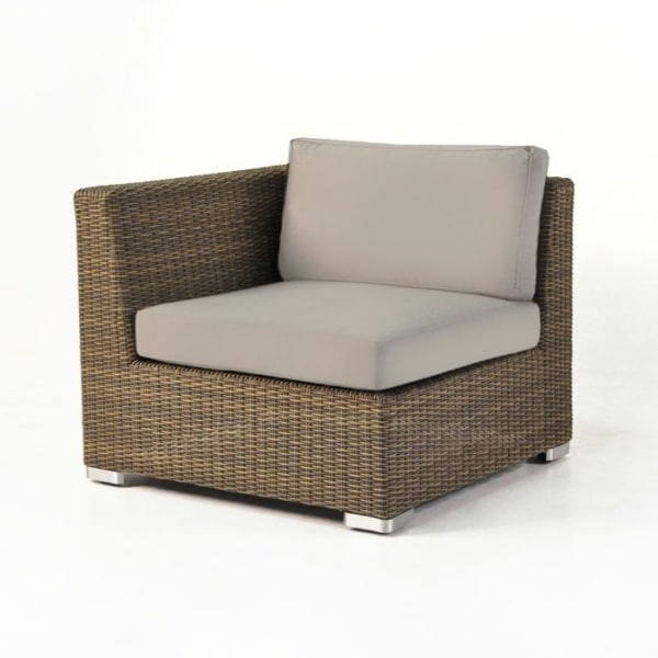 Paulo Outdoor Wicker Sectional Right (Sand)-0
