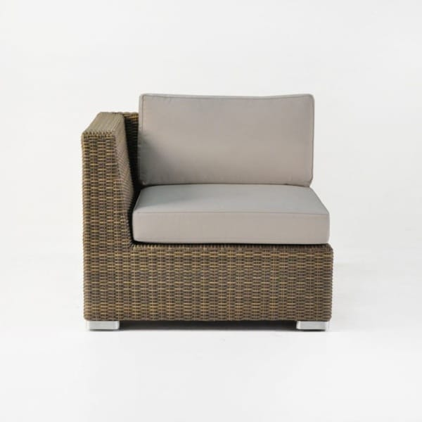 contemporary wicker chair with cushions