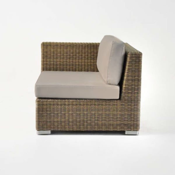 brown wicker outdoor chair
