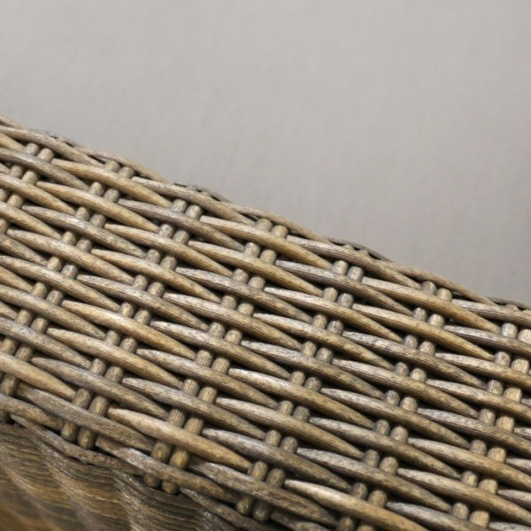 light brown wicker weave detail