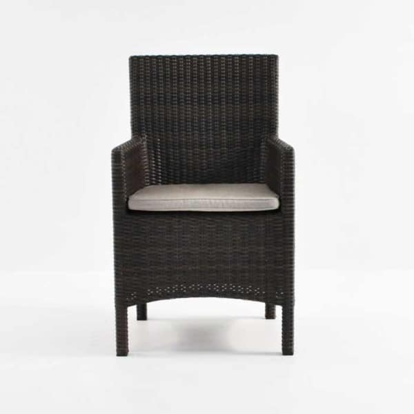 front of petra wicker armchair