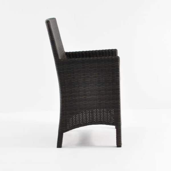side of petra wicker armchair