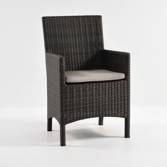Amazing Petra Wicker Dining Arm Chair (Java) 0 ...