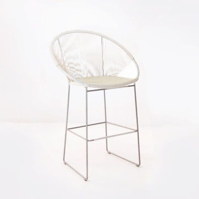 Pietro Wicker Bar Chair (White)-0