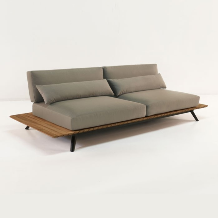 Platform Reclaimed Teak Sofa Outdoor Patio Couch Teak