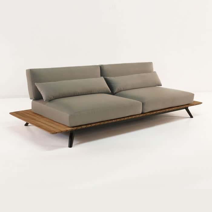 Platform Reclaimed Teak Sofa Outdoor Patio Couch Teak