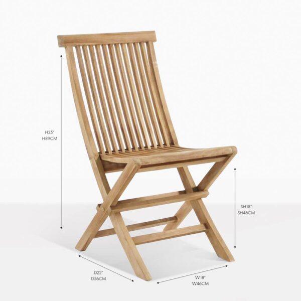 prego teak folding chair