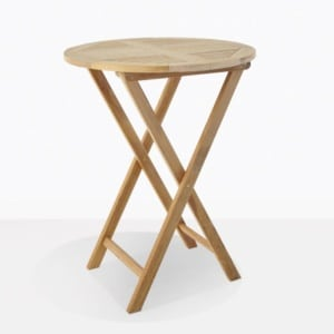 Prima Teak Round Folding Bar Table