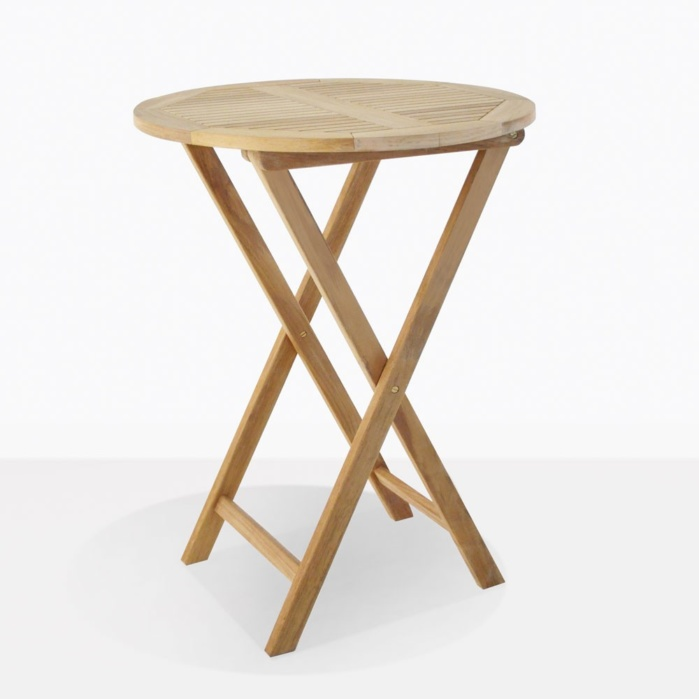 Prima Teak Round Folding Bar Table