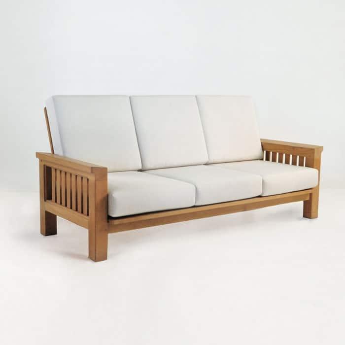 Raffles Teak Outdoor Sofa Patio Lounge Furniture Teak Warehouse