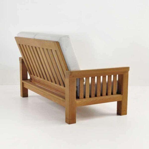 Patio furniture - raffles loveseat back angle view
