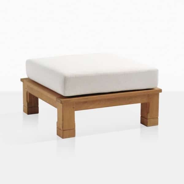 Raffles Teak Ottoman With Cushion