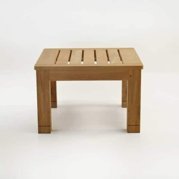 Patio furniture - raffles teak end table end view