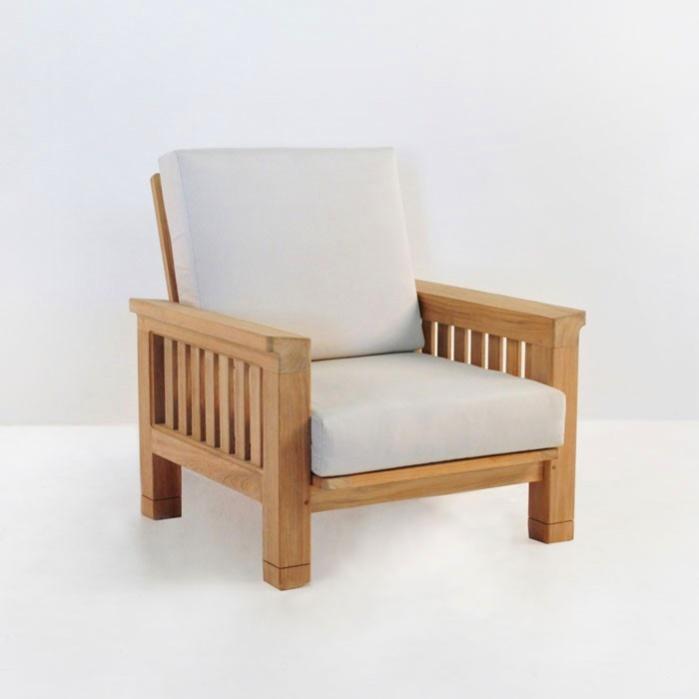 Raffles Teak Outdoor Club Chair Patio Lounge Furniture Teak