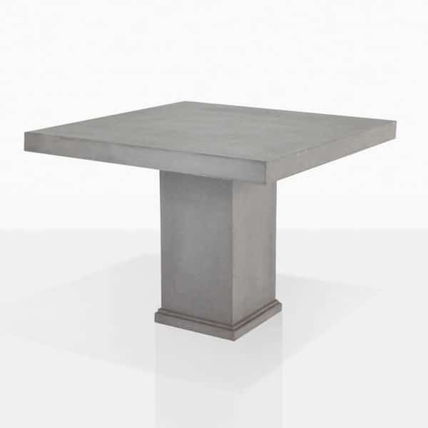Raw Concrete Square Pedestal Dining Table