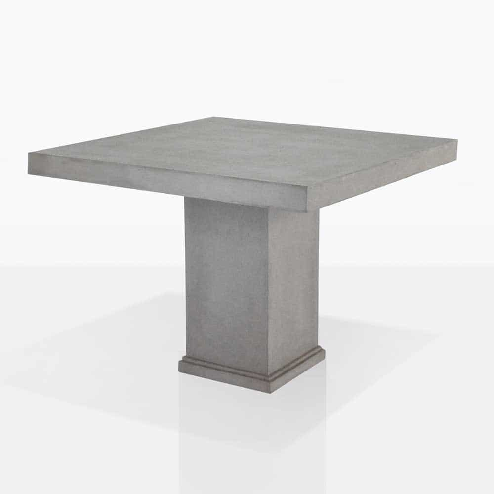 Raw concrete dining table 39″