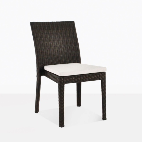 Romansa Wicker Dining Side Chair With Cuhsion