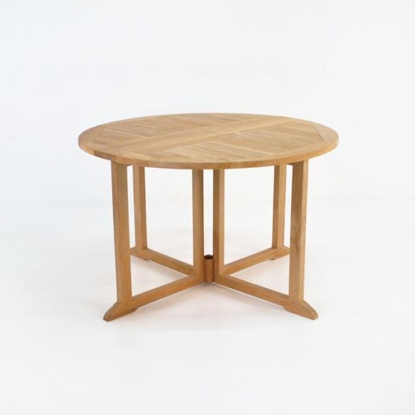 Round Teak Dining Drop Leaf Table-0