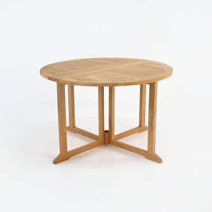 Round Teak Dining Drop Leaf Table 0 ...