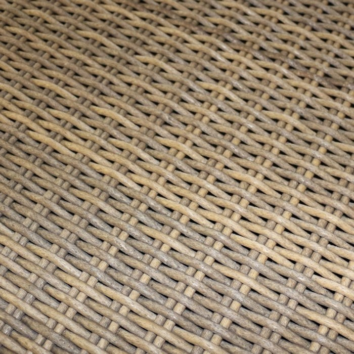 light natural looking synthetic outdoor wicker woven fibers