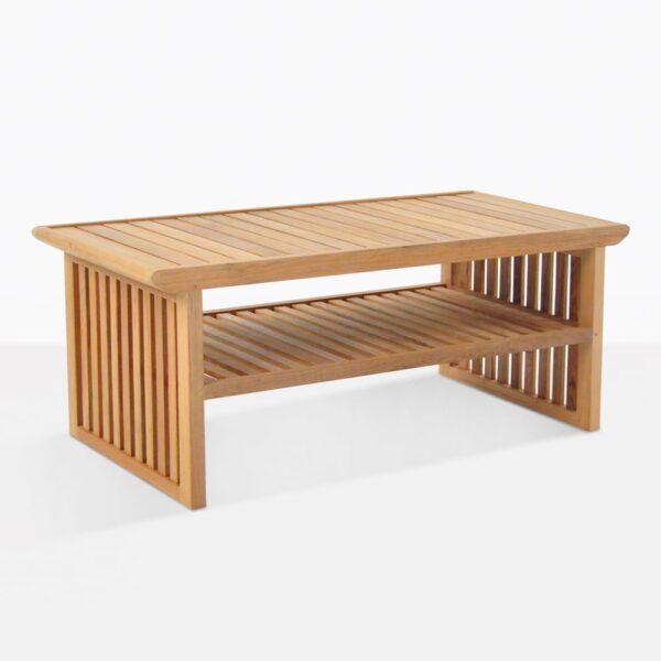 Satai Teak Coffee Table With Shelf