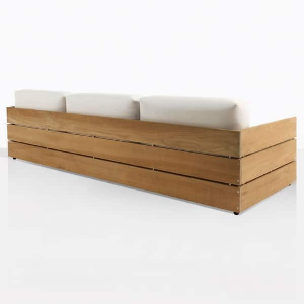 Soho Grande Teak And Steel Sofa