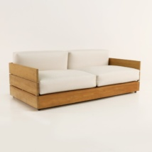 Soho Grande Teak Outdoor Loveseat-0