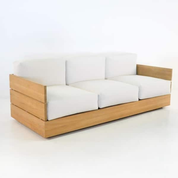 Patio furniture - Soho Teak Outdoor Sofa-0