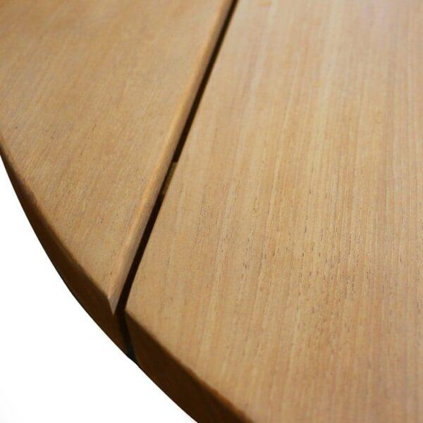 Patio furniture - soho teak coffee table round closeup view