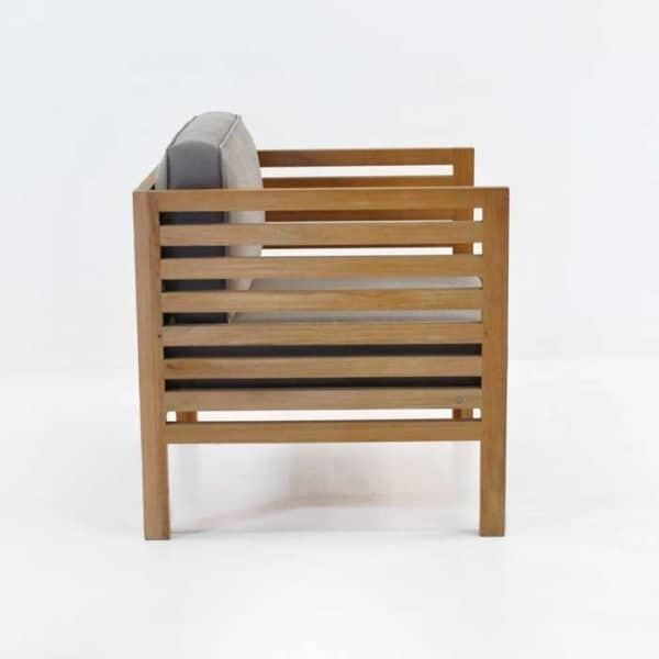 spa teak outdoor club chair side view