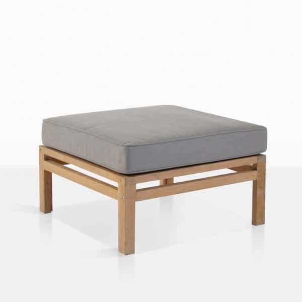 Spa Teak Ottoman With Cushion