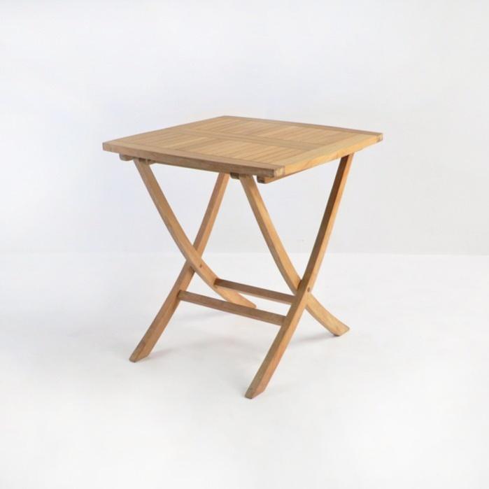 Square Teak Folding Bag Table (Dining)-0