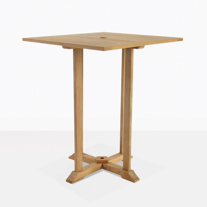 Square Teak Outdoor Bar Table