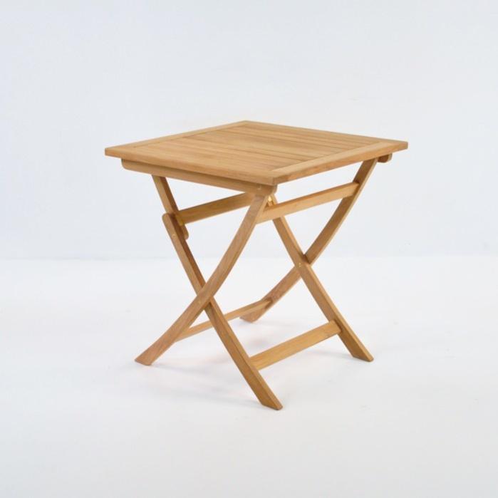 """Square Teak Folding Table 27""""-0"""