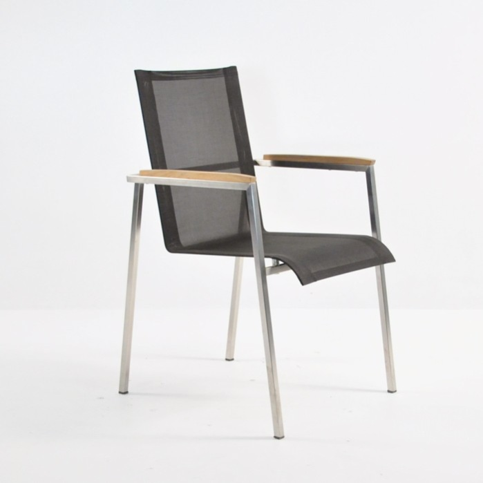 Summer Stacking Dining Chair (Black)-0