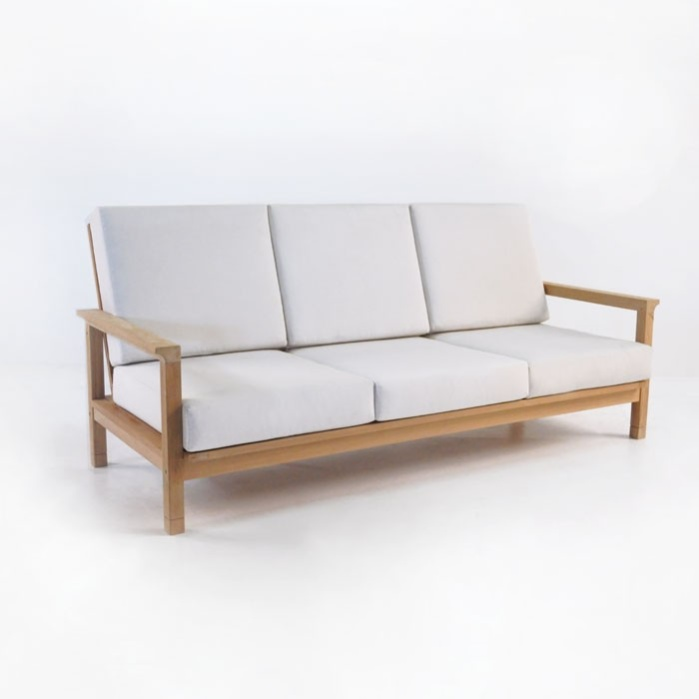 Lounge sofa outdoor teak  St. Tropez Teak Outdoor Sofa | Patio Lounge Furniture | Teak Warehouse